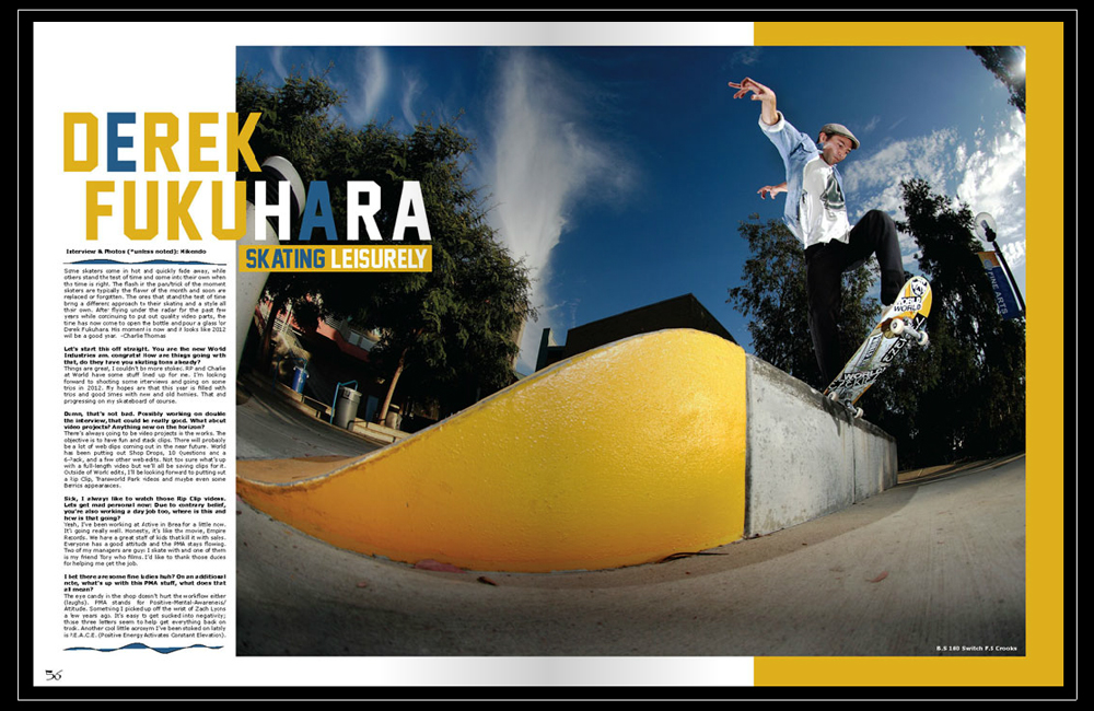 Bliss Magazine - Derek Fukuhara Feature