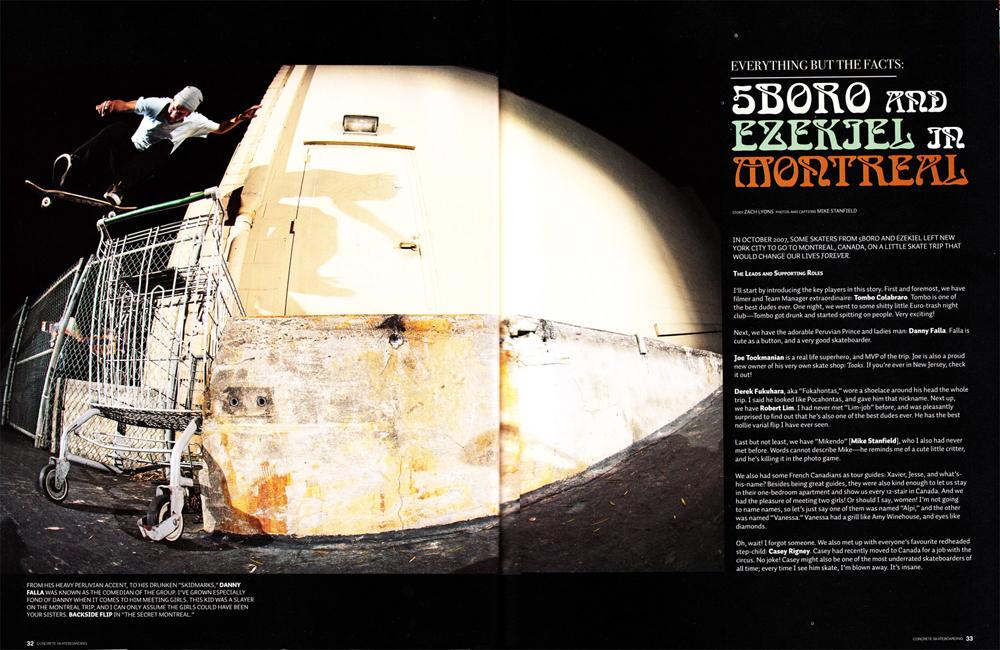 Concrete Magazine - 5boro & Ezekiel in Montreal